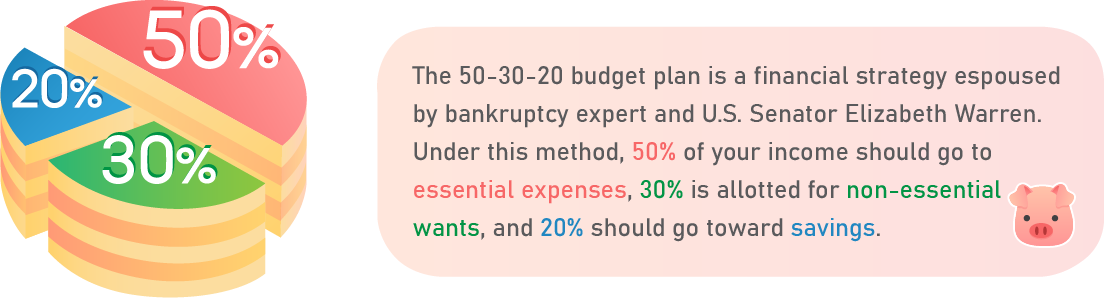 50-30-20 budget plan.
