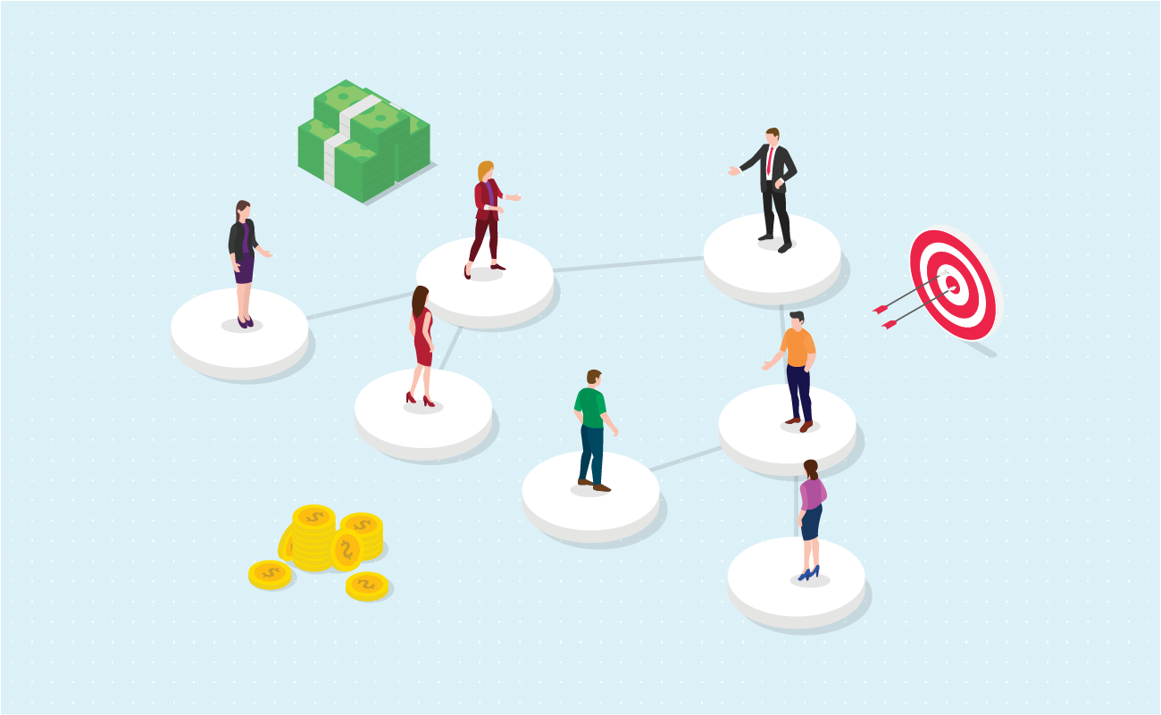 Multilevel marketing diagram