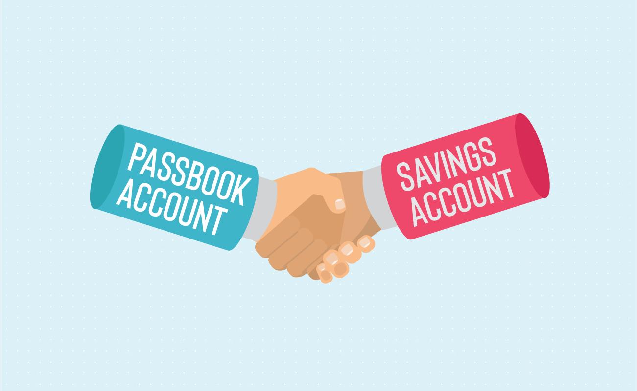 Account passbook handshakes savings account