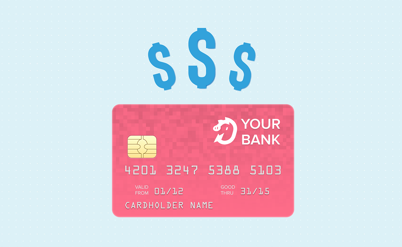 Credit card with dollar sign for savings