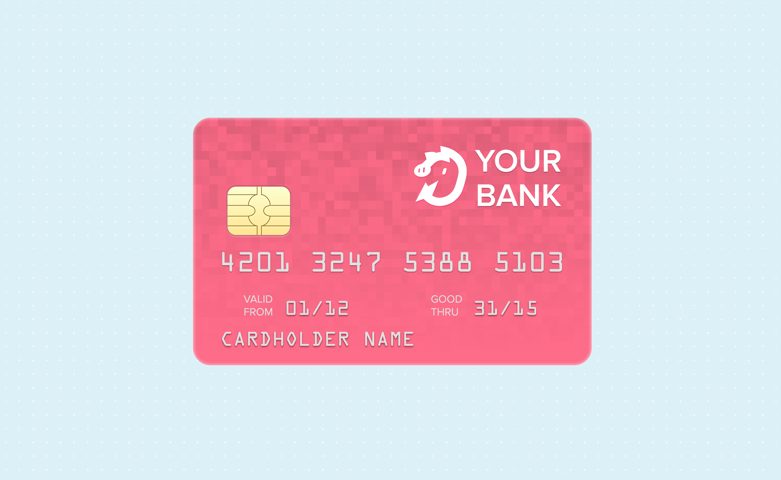 Credit card with pigly logo.