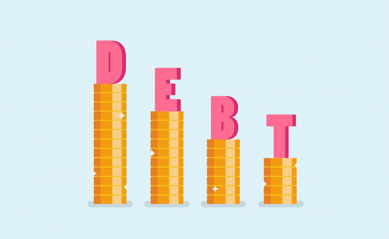 Decreasing your debt gradually.