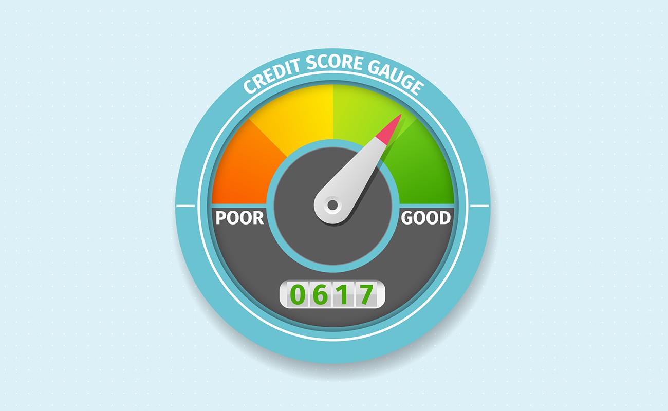Good credit score meter
