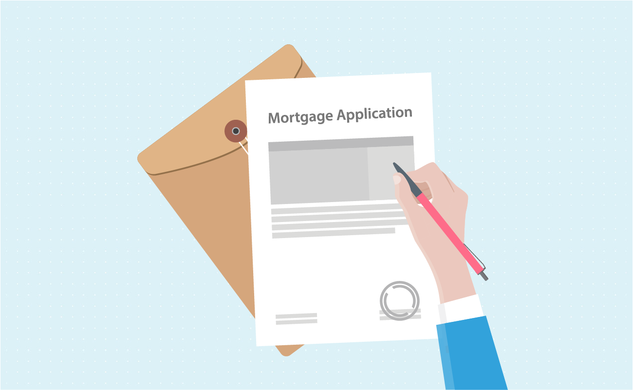 Hand signing mortgage application