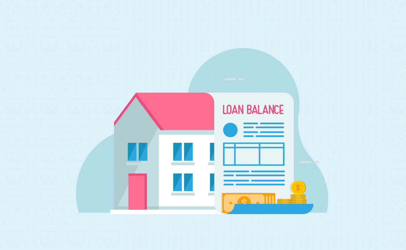 House with loan balance statement.