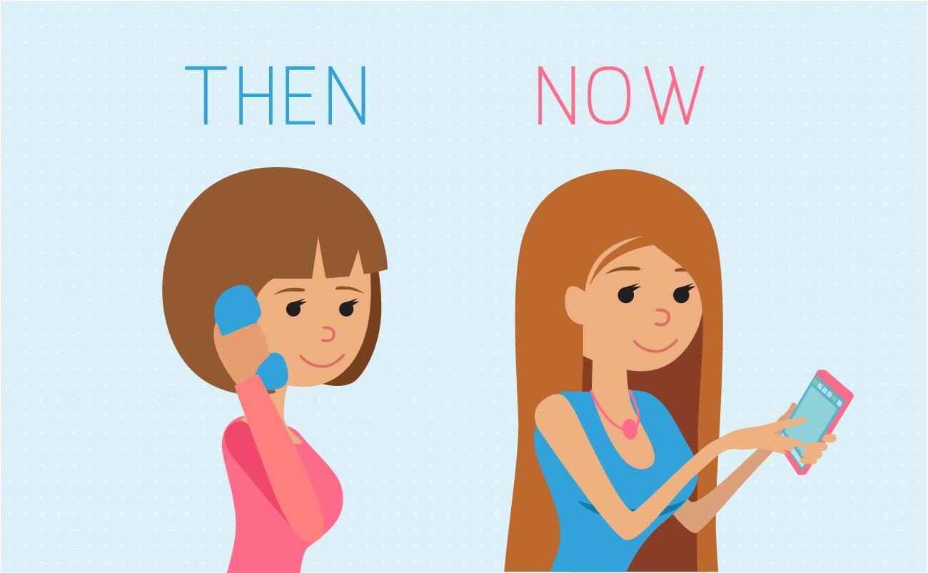 Landline then smartphone now.