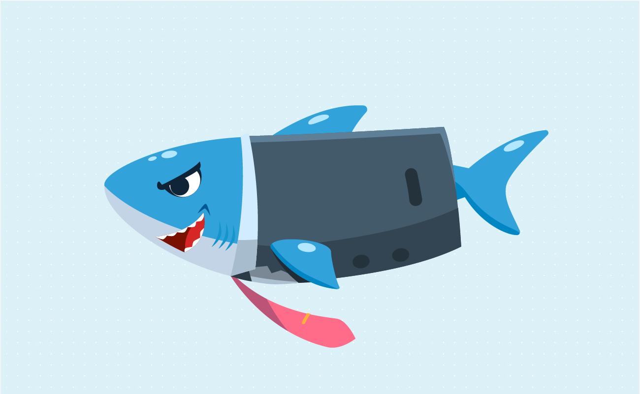 Loan shark in a suit