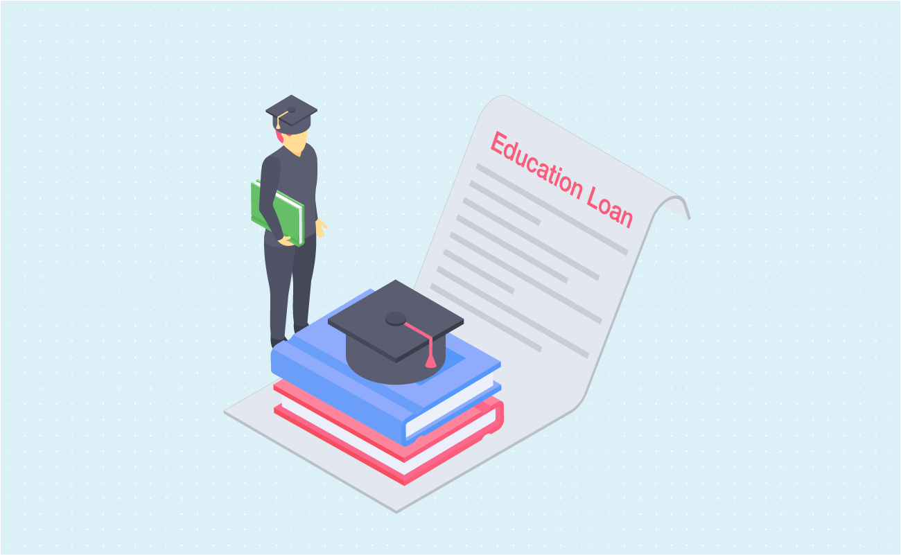 Man considering education loan to graduate