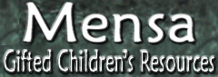 Mensa Gifted Children's Resources Logo.