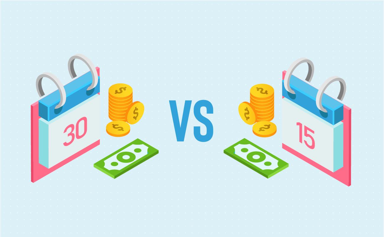 Monthly vs bi-weekly payment schedule.
