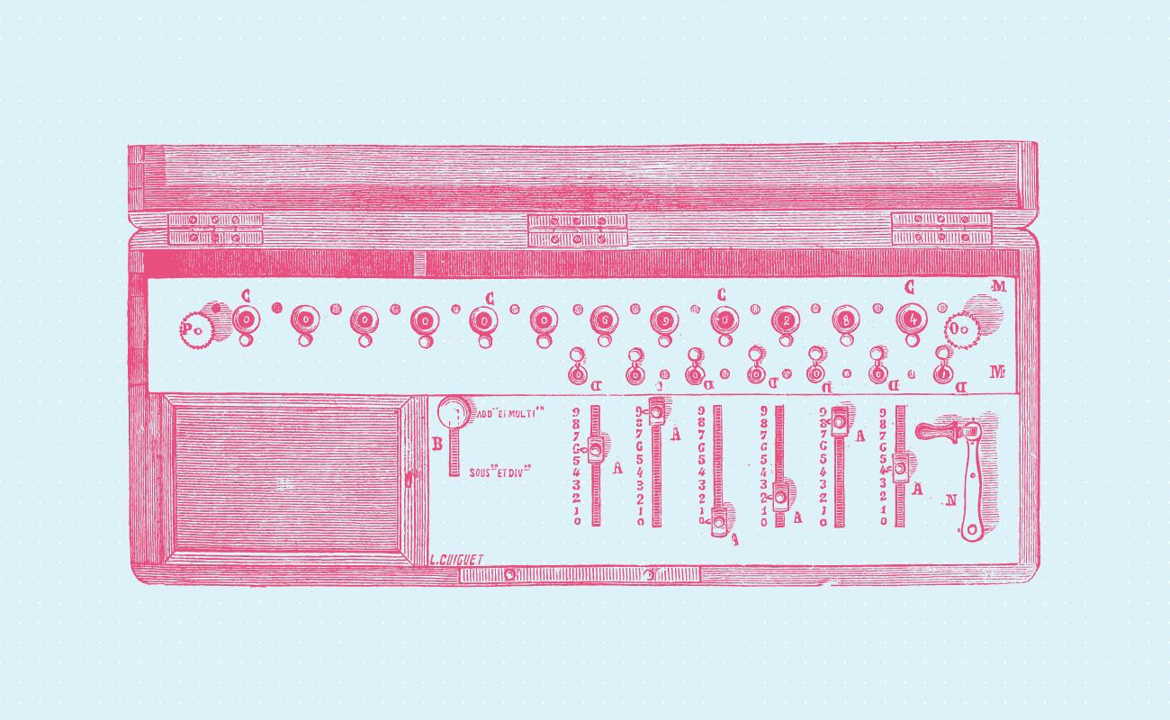 Old arithmometer.