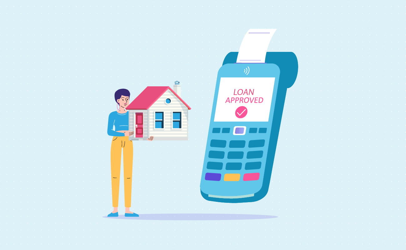 Treating house as credit collateral.