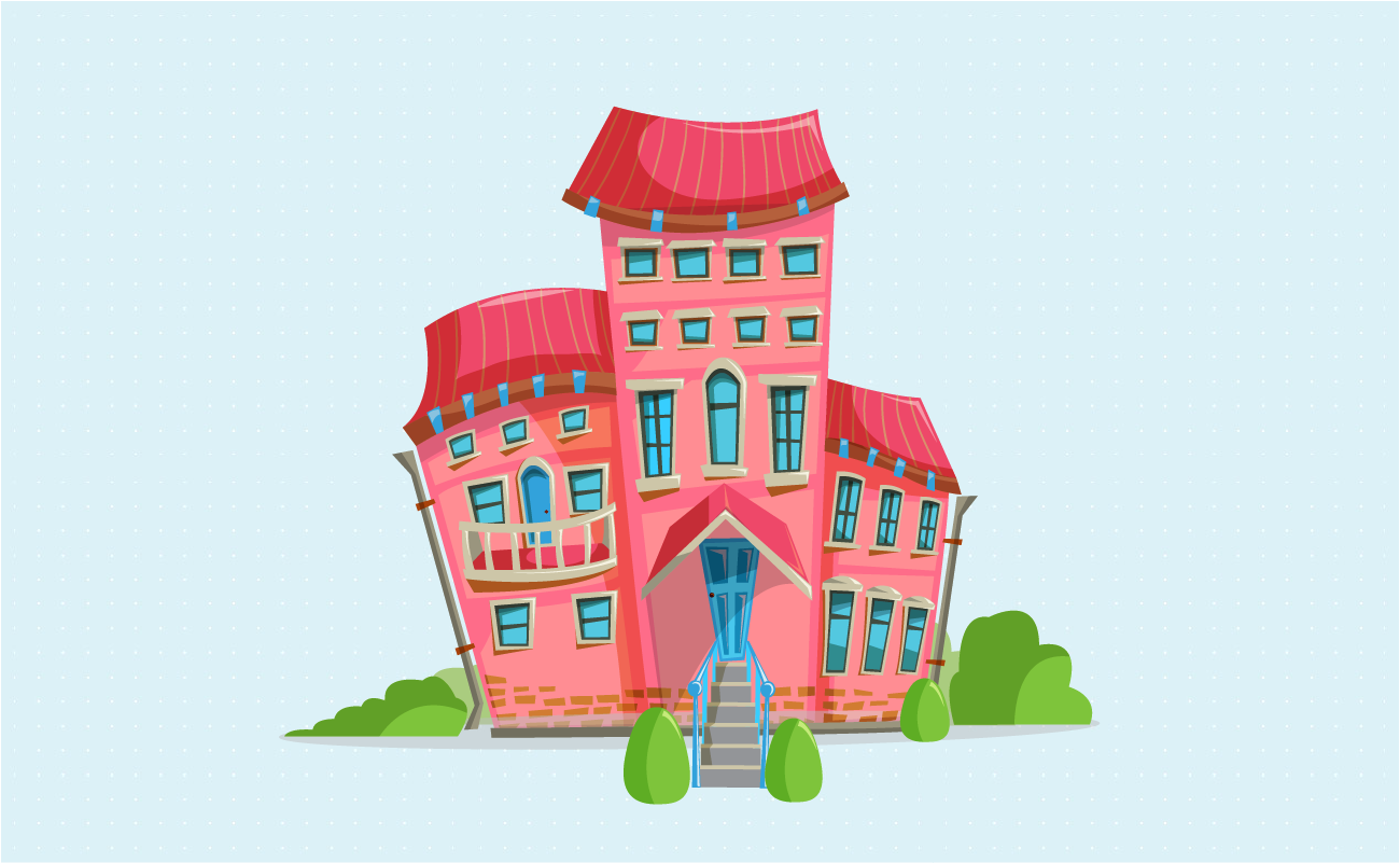 Ugly pink mansion