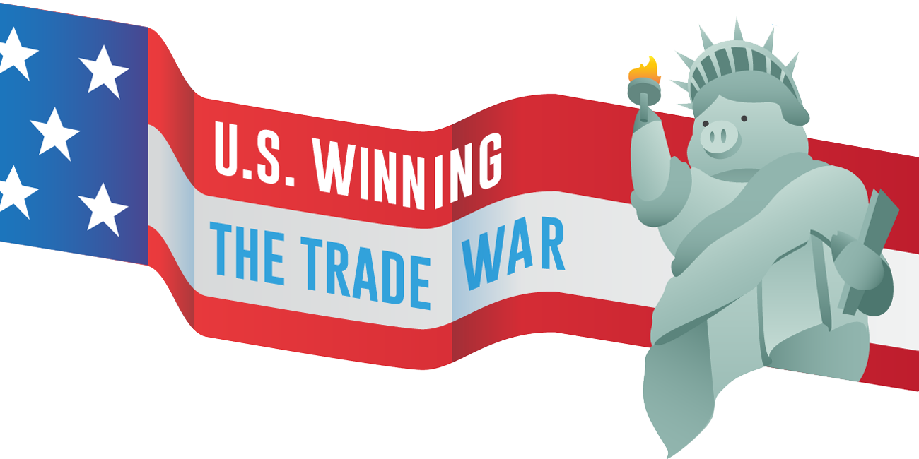 US winning the trade war.