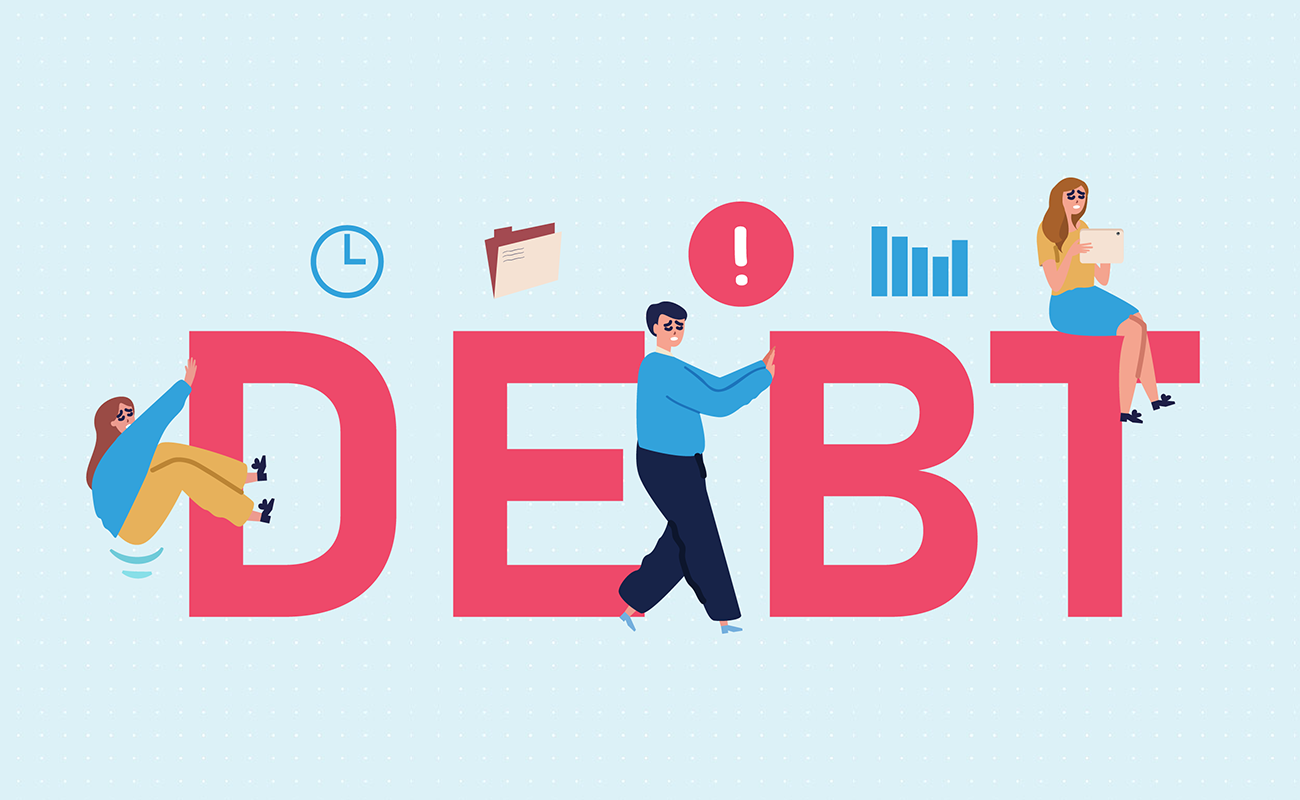 Visuals about debt
