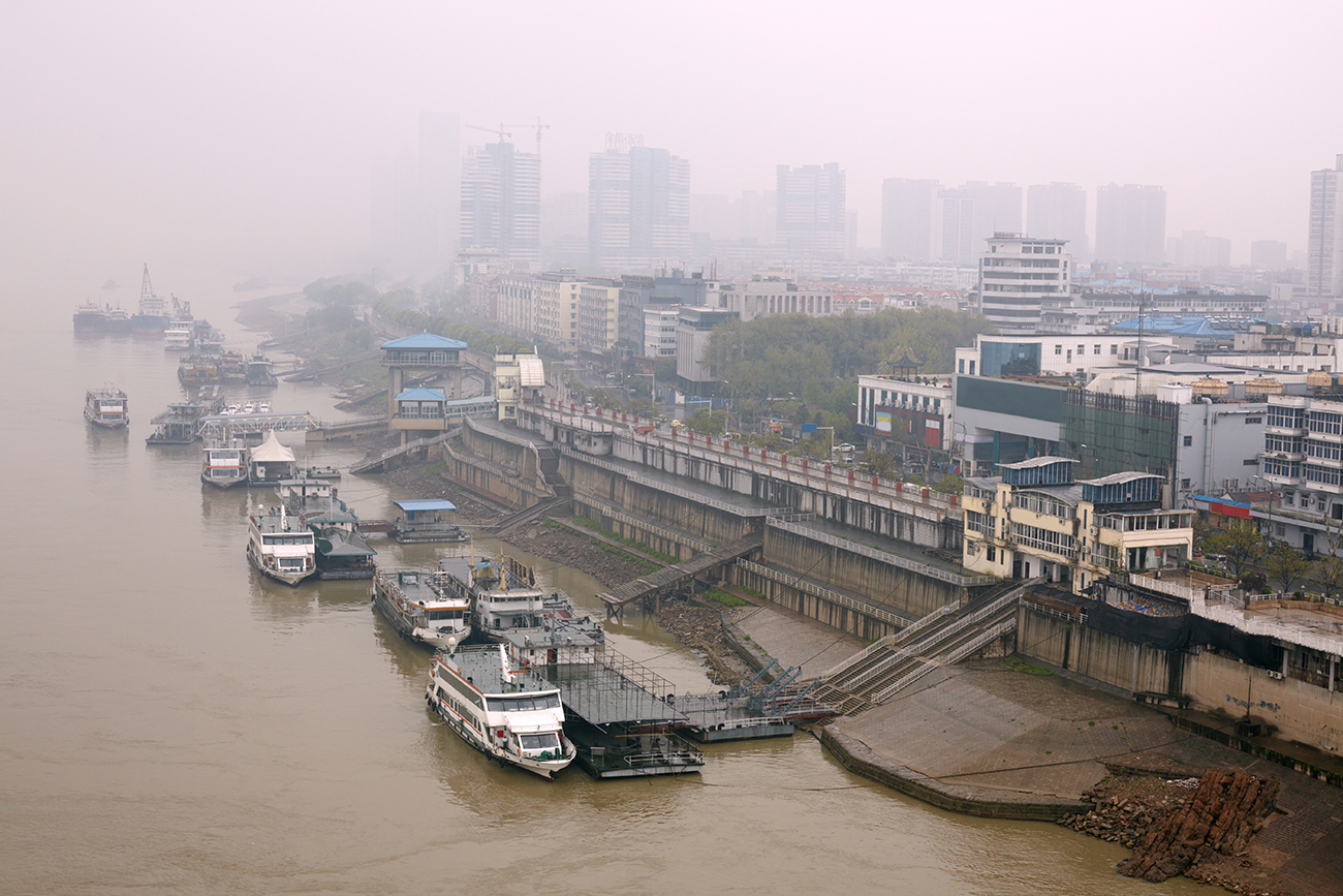 Polluted Wuhan Skyline.